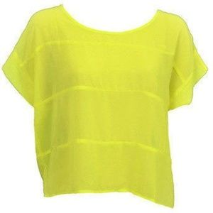 New Nordstrom Cotton Candy Sheer Yellow Blouse